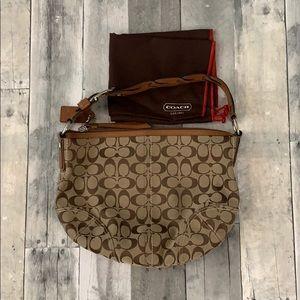 Coach purse tan/brown with bag